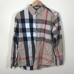 Burberry London Nova Check Button Down Shirt XL